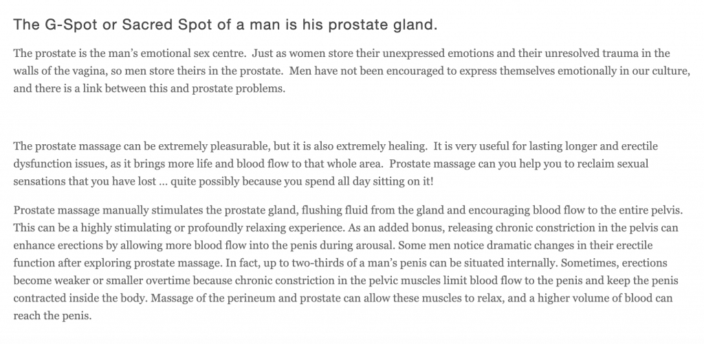 prostate massage sydney